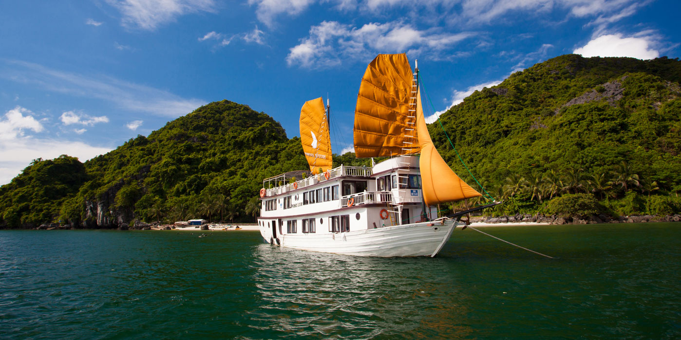 halong bay cruise route